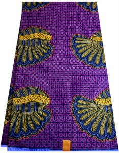 Exclusive  African Wax  print fabrics - Purple , Yellow Gold &Blue .